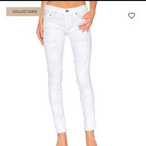 Rag & Bone Distresses Dre white Brigade Jeans
